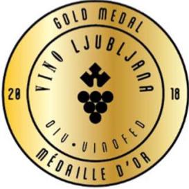 Vino Ljubljana Gold Medal 2018