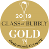 Glass of Bubbly 2019 Gold Medal gastronomic category
