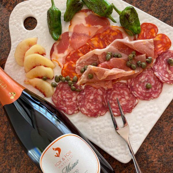 Perfect Pairing of Fox & Fox Mosaic with Charcuterie Platter