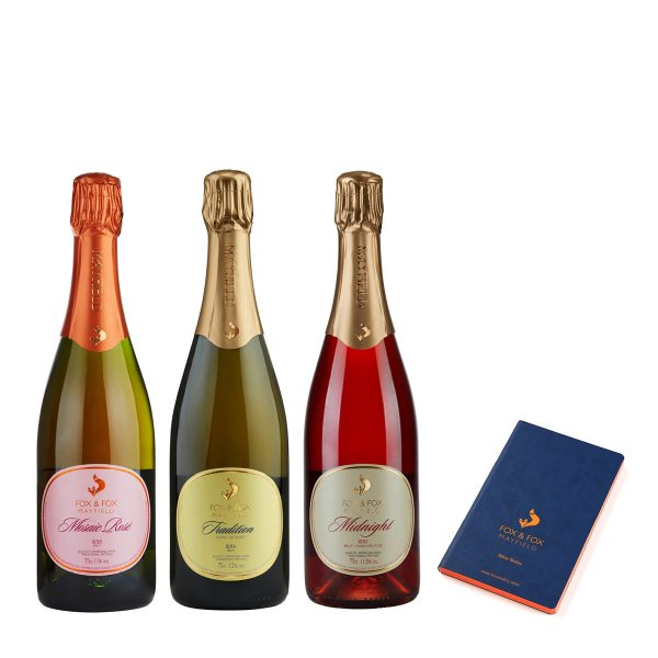 Fox & Fox Festive Fizz Trio with Notebook
